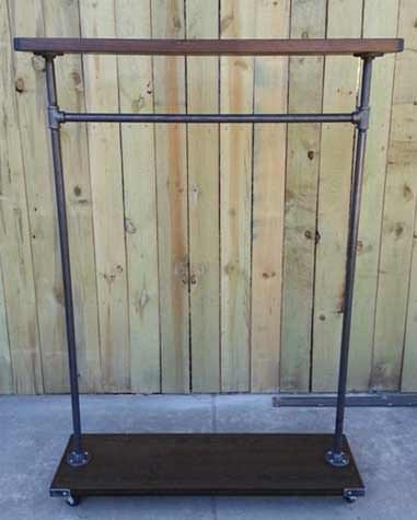 Garment Rack made of steel and wood