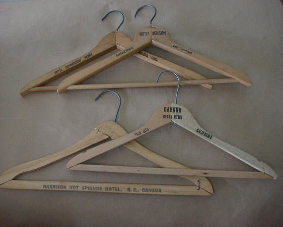 Hotel Hangers from the 1940'd and 1950's