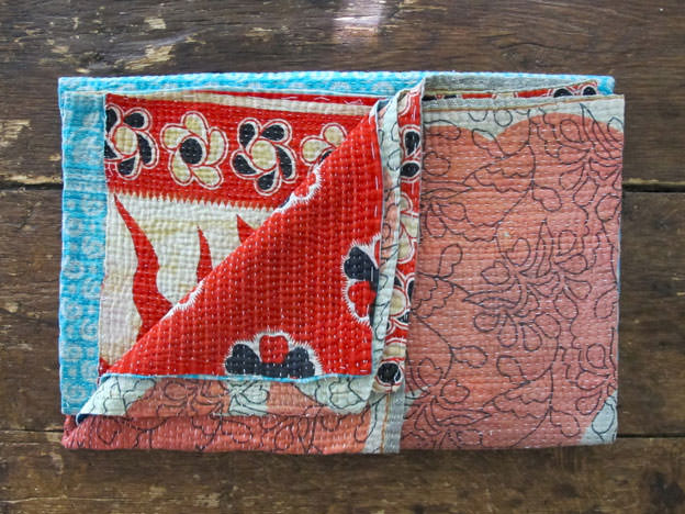 Nine Streets Kantha Throw