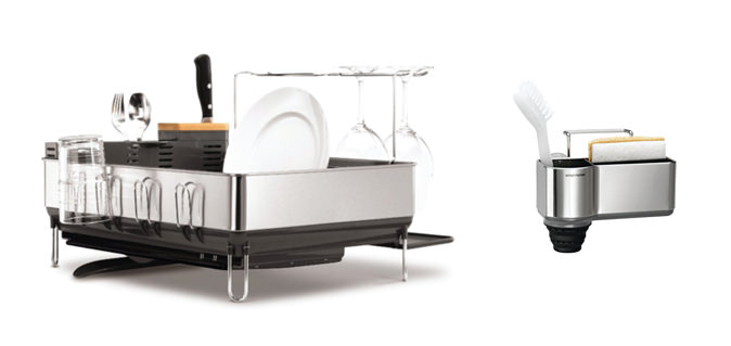 Dishrack and Sponge Holder from Simple Human