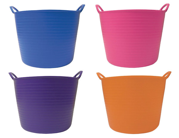 Colorful laundry baskets