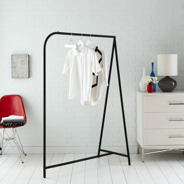 vacation rental clothes rack west elm