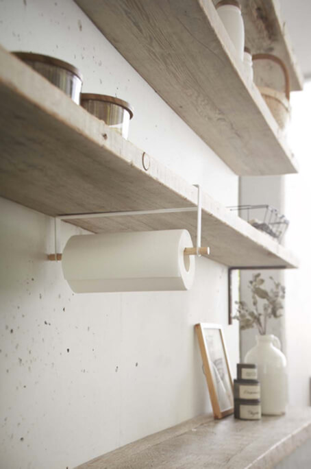 Lampe Ikea Boule Qui SOuvre ~ An under shelf paper towel holder, like this one by Yamazaki, frees up