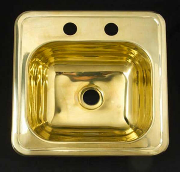Barclays brass prep sink