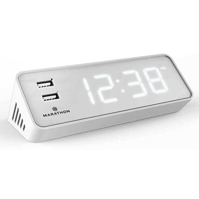 1 Chic Retreat features Alarm clock with USB port